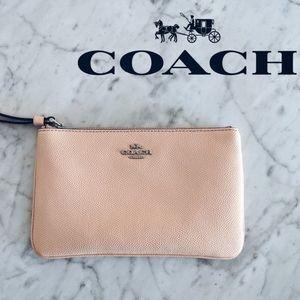 Coach Nude Peach Wristlet Like NEW
